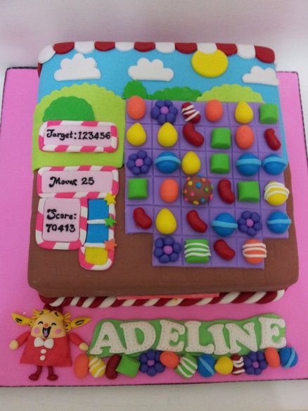 candy crush cake...do you think my husband will make this for me? ; )