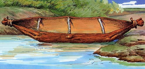 Aboriginal Technology -   Tied bark canoes were used along the south-east coast of New South Wales Source: Aboriginal Technology: Watercraft, Alex Barlow, Macmillan Education Australia (1994)