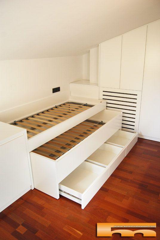Cama compacta habitacion juvenil lacada amaya sant andreu - Camas juveniles barcelona ...