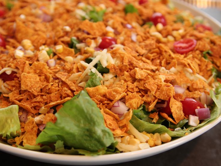 Mexican Salad recipe from Ree Drummond via Food Network - add chicken or ground beef to make it a dinner.