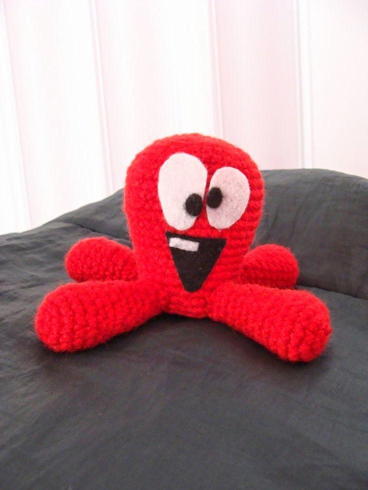 Arañita tejedora: Pulpo Fred (patrón)