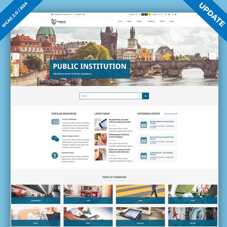 We've updated Public Institutions, WordPress WCAG 2.0 compliant theme. The new version comes with: Improvements in the gallery shortcode,search results,   breadcrumbs, WCAG 2.0 /ADA / Section 508 improvements and more! #WordPress #theme #WCAG #services #gallery #ADA #Section508