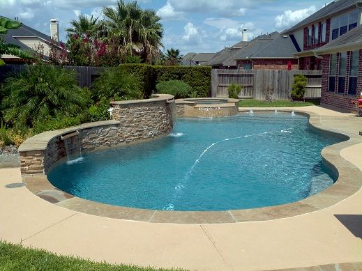 69 best images about pool on pinterest rock waterfall for Pool design katy tx