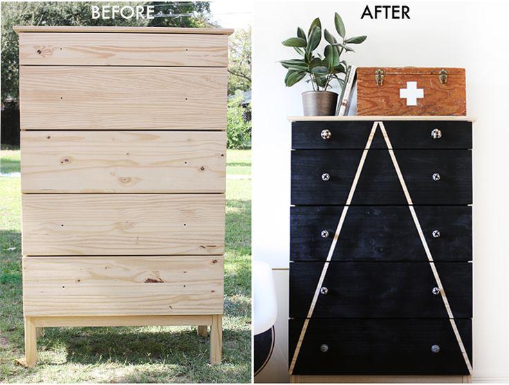 Create a stylish dresser with this TARVA DIY on the Hello Lidy blog.