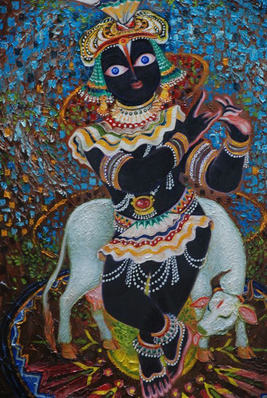 Experiments with Krishna series. oil on canvas.