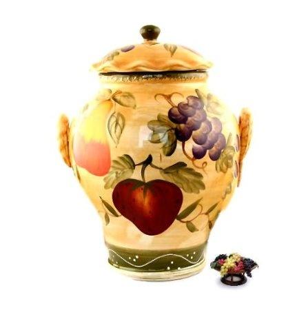 Amazon.com: Large Cookie Jar,fruit Decor,tuscany Fruit: Kitchen U0026