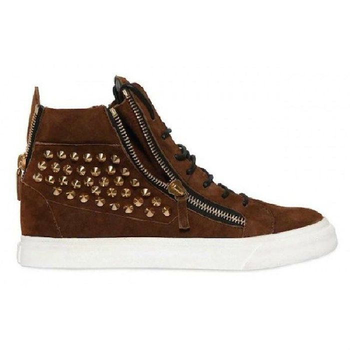 Giuseppe Zanotti High-Top Sneakers Calfskin leather upper with 20mm rubber  sole Leather innersole and
