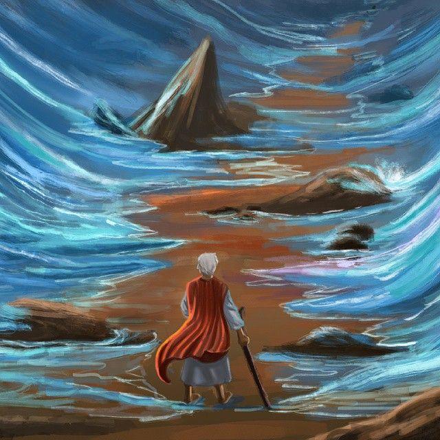 Practice  #moses #jw #jwinspired  #redsea #photoshop  #digitalpainting #painting #miracle