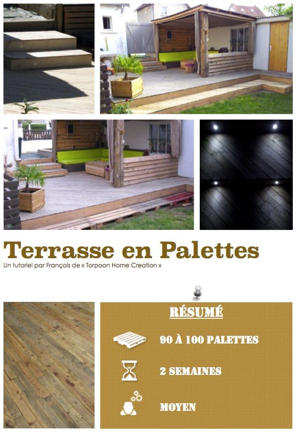 25 beste idee n over terrasse en palette op pinterest. Black Bedroom Furniture Sets. Home Design Ideas