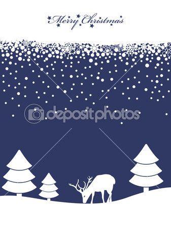 Синий рождественский фон