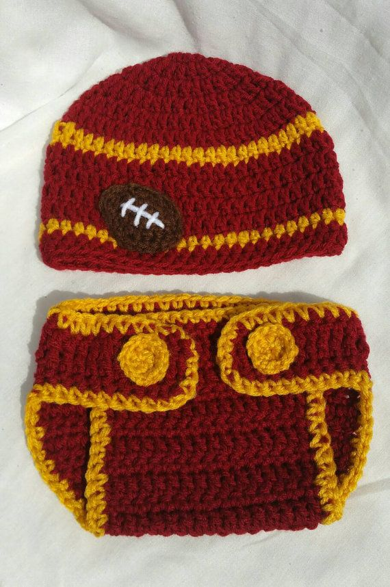 Check out this item in my Etsy shop https://www.etsy.com/listing/459477718/usc-college-football-inspired-crochet