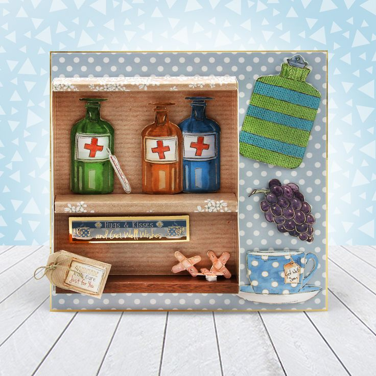 Card made using Hunkydory Crafts' Get Well Soon Luxury Topper Set from the Moments & Milestones Collection