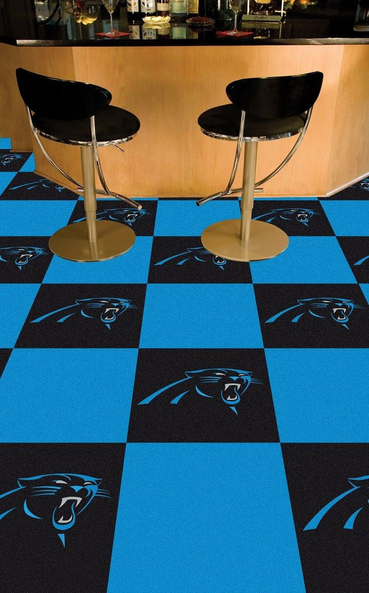 Carolina Panthers Team Carpet Tiles