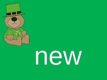 Sight Word PowerPoint (second 100 words) St. Patrick's Day Theme