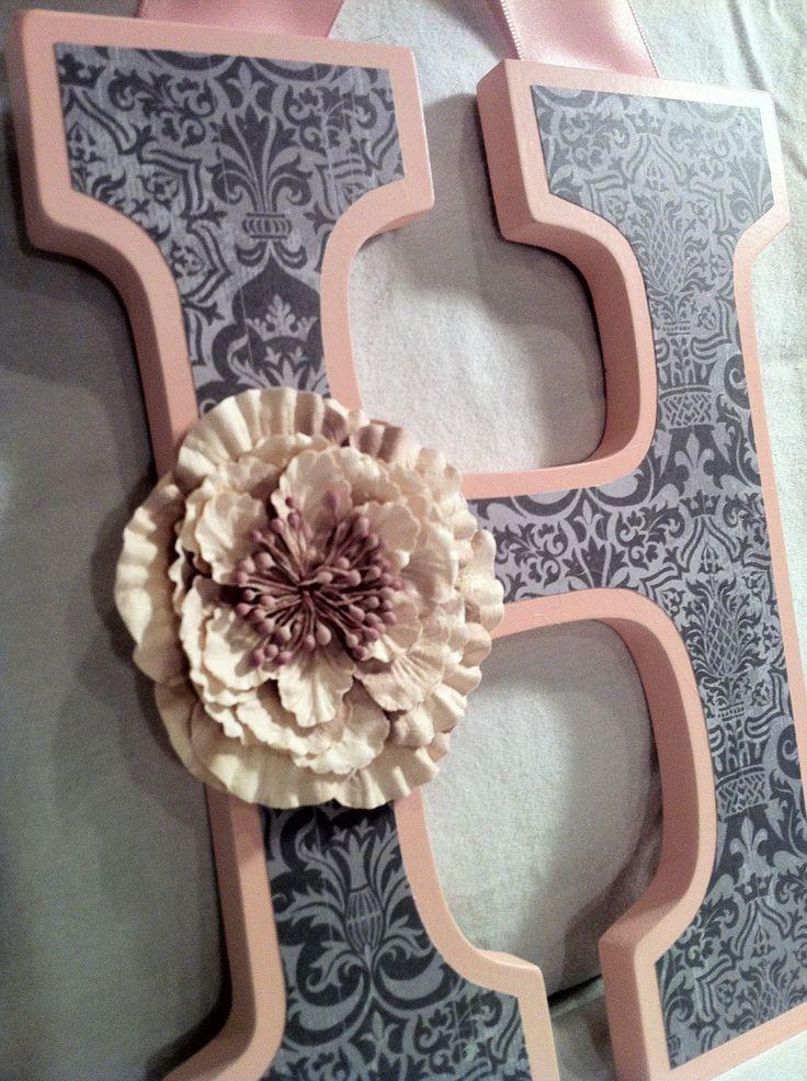 Custom Wooden Hanging Wall Letters Nusery by KraftyLawyerDesigns. $20.00 USD, via Etsy.