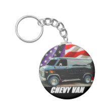 1979 Chevy Van Keychain