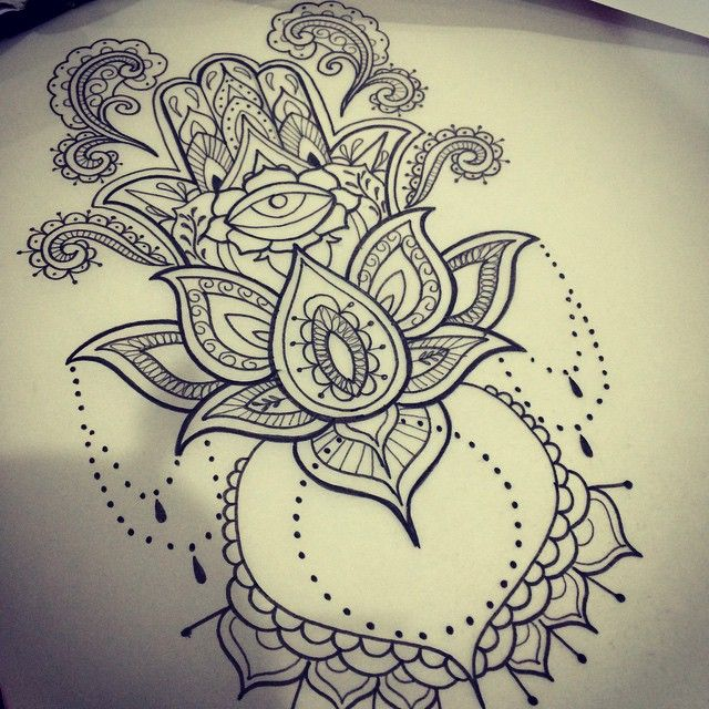 Hamsa hand tattoo design for my Jpol_x tomorrow if she can sit still for more th…