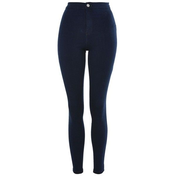 Women's Topshop Joni High Waist Skinny Jeans ($65) ❤ liked on Polyvore featuring jeans, pants, high rise jeans, topshop jeans, blue high waisted jeans, super skinny jeans and skinny fit jeans