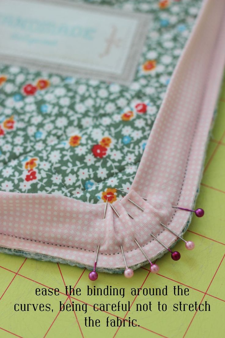 great tutorial-- shows you how to cut and bind a curved corners too.