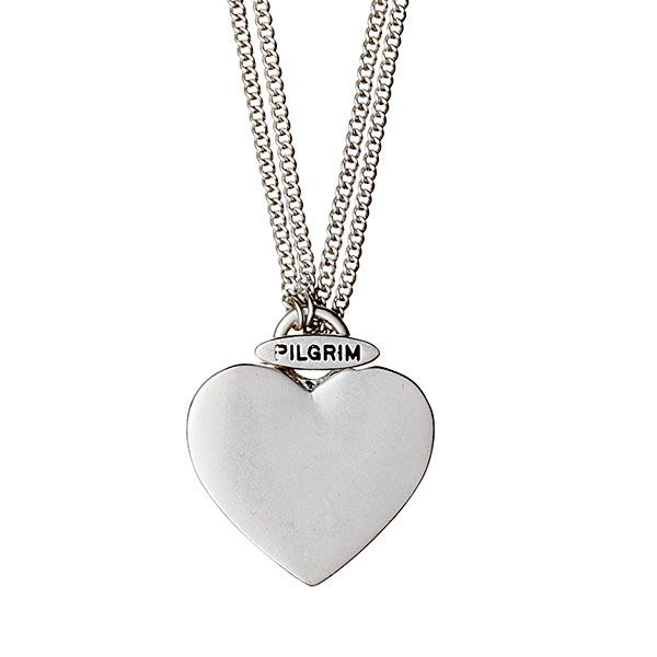 Pilgrim Silver Plated Solid Heart Pendant Necklace, short & long Was £27.99 Now Only £23.79 from Lizzielane.com http://www.lizzielane.com/product/pilgrim-2-in-1-silver-plated-large-heart-necklace/