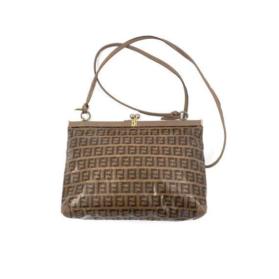 Authentic Vintage Fendi Zucca Crossbody Bag Bags Crossbody Bag Fendi
