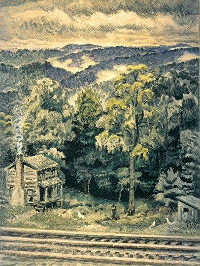 Hill Country At Twilight Aka Appalachian > Collection > Burchfield Penney Art Center