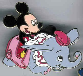 **RARE VHTF Disney Auctions Pin Dumbo Ride with Mickey Mouse Rider LE 500 OC