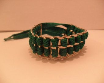 Upcycled Soda Can Tab & Shoelace Bracelet Tie by CoralannCreations