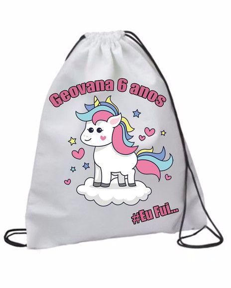 e6a2f5b1e 20 Mochila Unicornio personalizada | Wonderful product | Drawstring  backpack, Backpacks, Bags