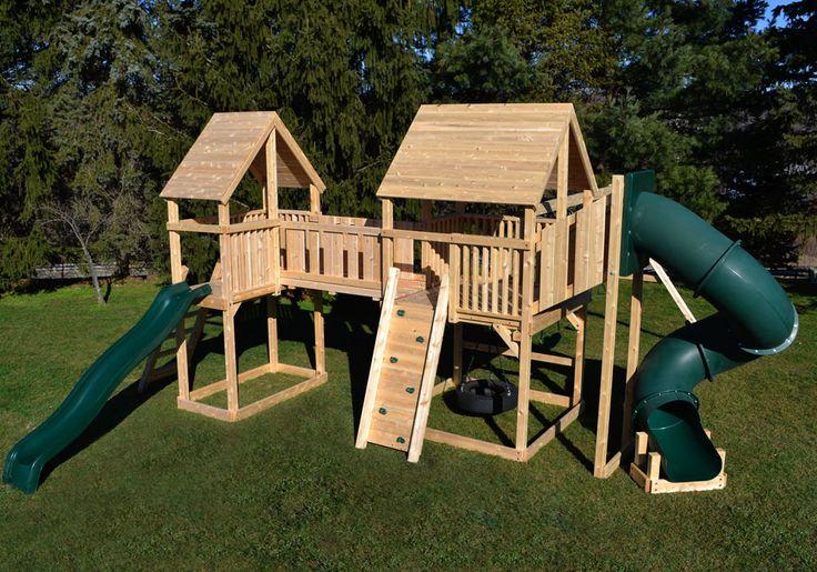 11 best diy playset images on pinterest treehouse play for Swing set bridge