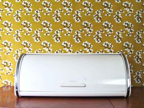 Retro Brabantia Bread bin via LoomAndLathe. #kitchen