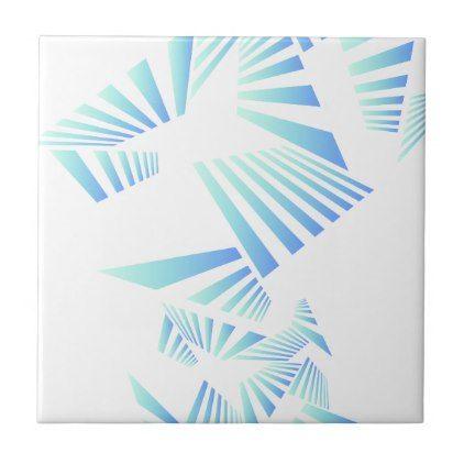 abstract lines design ceramic tile - cool gift idea unique present special diy