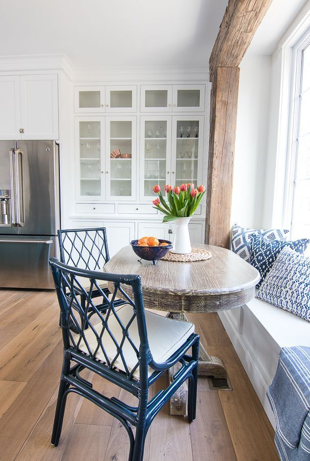Breakfast Nook Navy Chairs The Lilypad Cottage Window Seat Kitchen Breakfast Nook Table Home