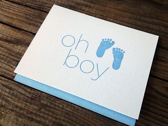 Baby Boy Letterpress Card