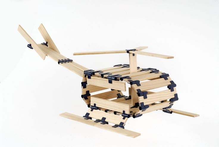 Helicopter in TomTecT blocks! #education #toys #parenting #kapla #blocks #gifts #homeschool