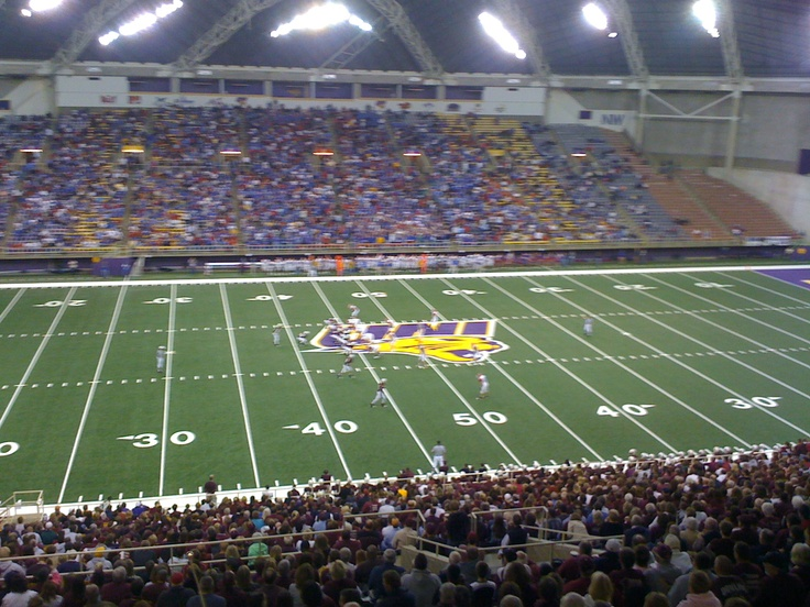 UNI Dome. There may be a blizzard outside, but it's always 72 degrees inside. Go Cats!