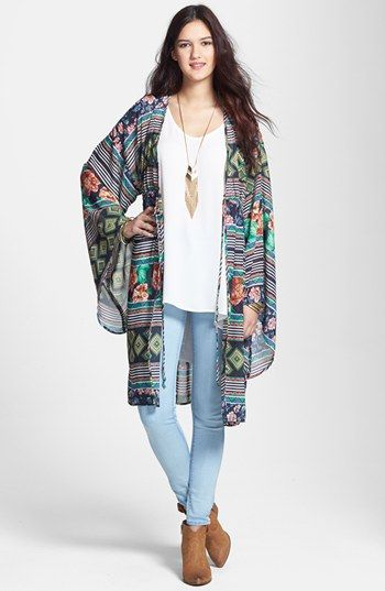 Liberty Love Cardigan, Painted Threads Tank & Articles of Society Skinny Jeans  available at #Nordstrom