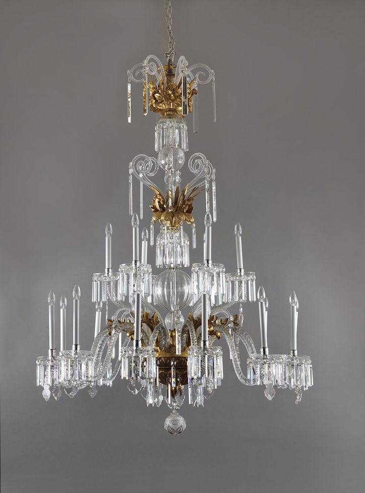 Exceptional giltwood and crystal chandelier. Tuscany, Lucca, 18th century