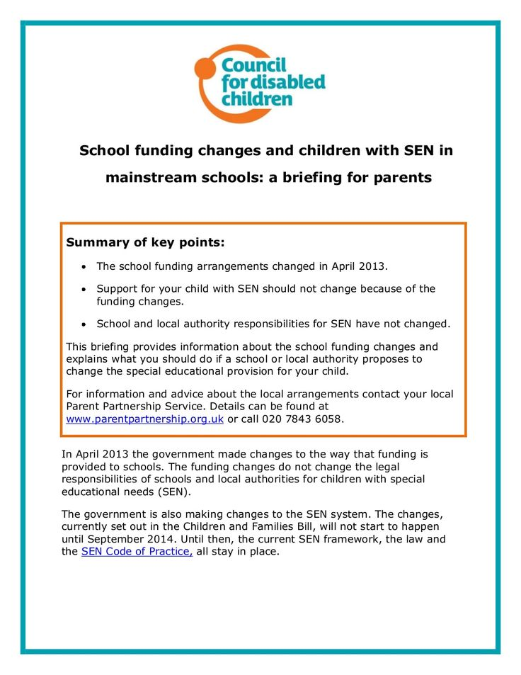 sen in mainstream schools By talking to school staff who teach your child sometimes a quick  with the  senco so that the school can better understand  with sen in mainstream  schools.