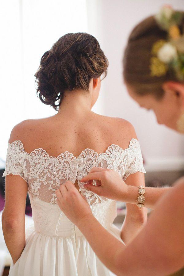 Sheer Bridal Bolero Jacket Shawl White/Ivory Lace Applique Off Should Customized #Jacket