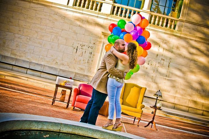 """""""Up"""" themed marriage proposal."""