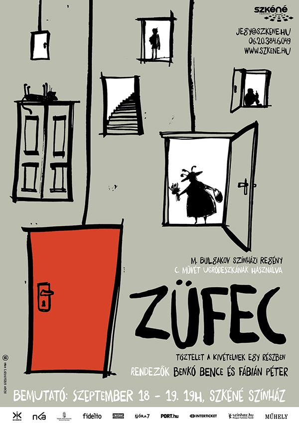 Züfec - based on Black Snow: A Theatrical Novel by Mihail Bulgakov / theater poster