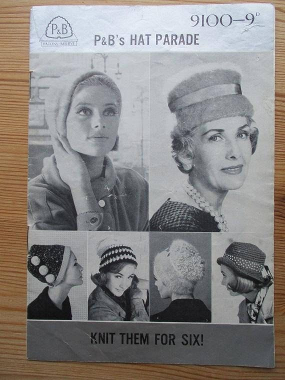 e24069a3be1 Hat vintage knitting pattern original vintage booklet Patons