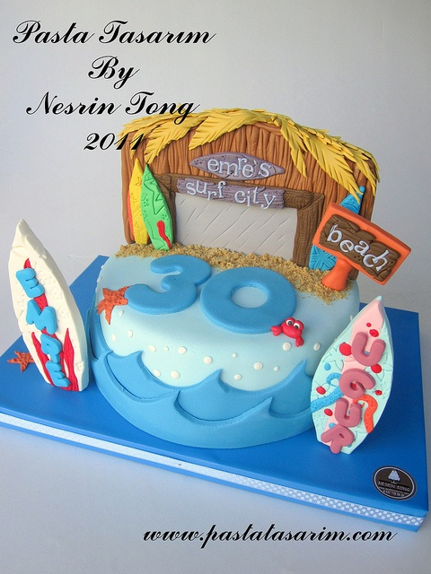 SURF CITY CAKE.... by CAKE BY NESRİN TONG, via Flickr