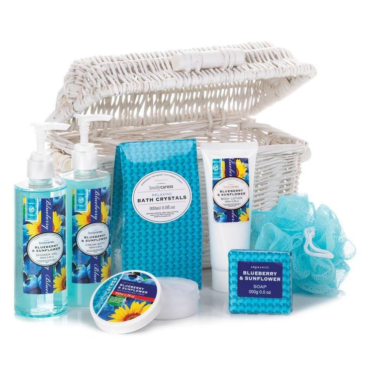 BLUEBERRY & SUNFLOWER SPA BASKET #SpaPleasure