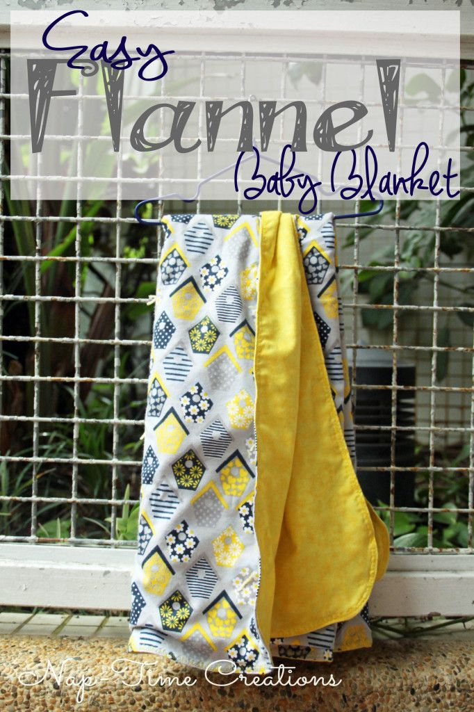 Sewing Tutorial.  Easy Flannel Baby Blanket.  So sweet.