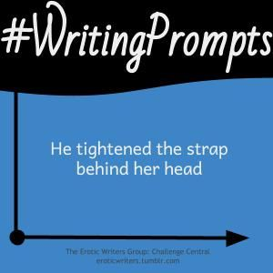 #WritingPrompts for #EroticWriters: He tightened the strap behind her head (#Session7:D6)  Participate here: http://eroticwriters.tumblr.com/post/112887900105/writingprompts-s7d6