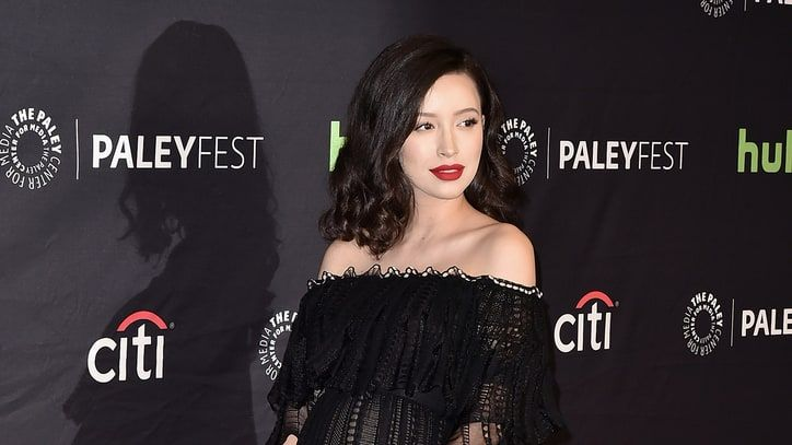 The Walking Dead's Christian Serratos Debuts Her Baby Bump on the Red Carpet