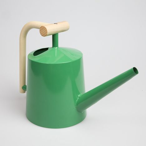Rhode IslandSchool of Design graduate George Coffin has designed a collection of products that add twists to familiar objects, including this watering can with a bent wood handle.