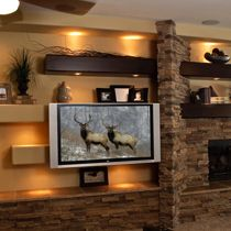 Built In Entertainment Center Design Ideas built in entertainment take note when building Find This Pin And More On New House Ideas Tcd Phoenix Designs And Builds Custom Media Walls Entertainment Centers